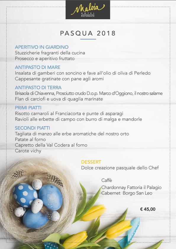menu Pasqua 2018