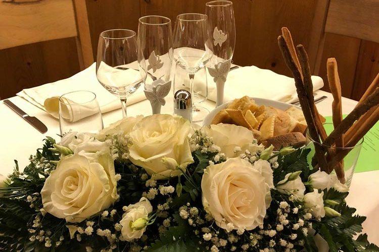 Ristorante Matrimonio – Esempio Di Allestimento Tavola – Hotel Maloia